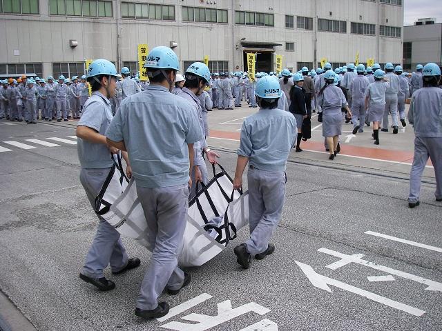 株式会社酉島製作所で防災訓練を...
